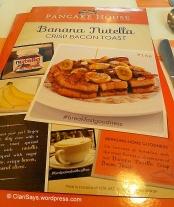 Banana Nutella Crisp Bacon Toast