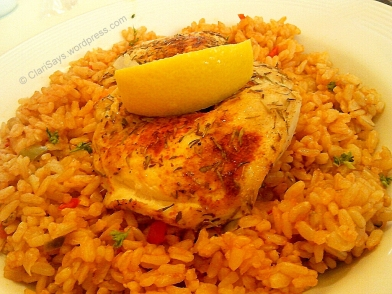 Spicy Chicken Fillet with Brown Rice Pilaf