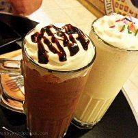 Nutella and Vanilla Milkshakes