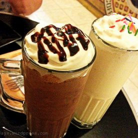 Nutella and Vanilla Milkshakes