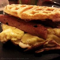 Spam and Egg Waffles