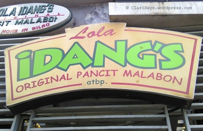 Lola Idangs Sign