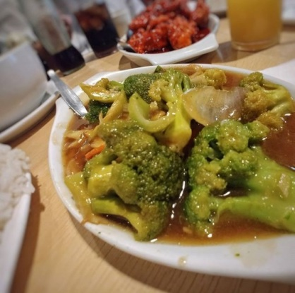 New City Food House - Broccoli with Oyster Sauce